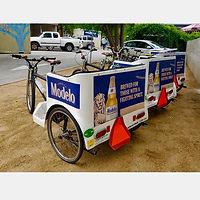 Metrocycle Pedicab with Panel Advertising