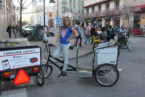 Pedicabbing is a fun way to earn cash. Join Metrocycle Pedicabs team. Metrocycle Pedicabs, Austin Texas
