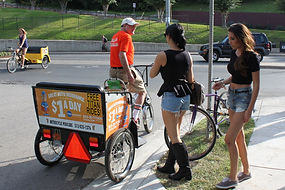 Book a fleet of pedicabs for chauffered services for you customers and VIP's at your next convention
