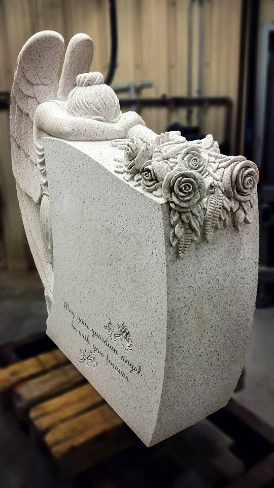 Sculpting the Bogar Angel - Bethel White Granite