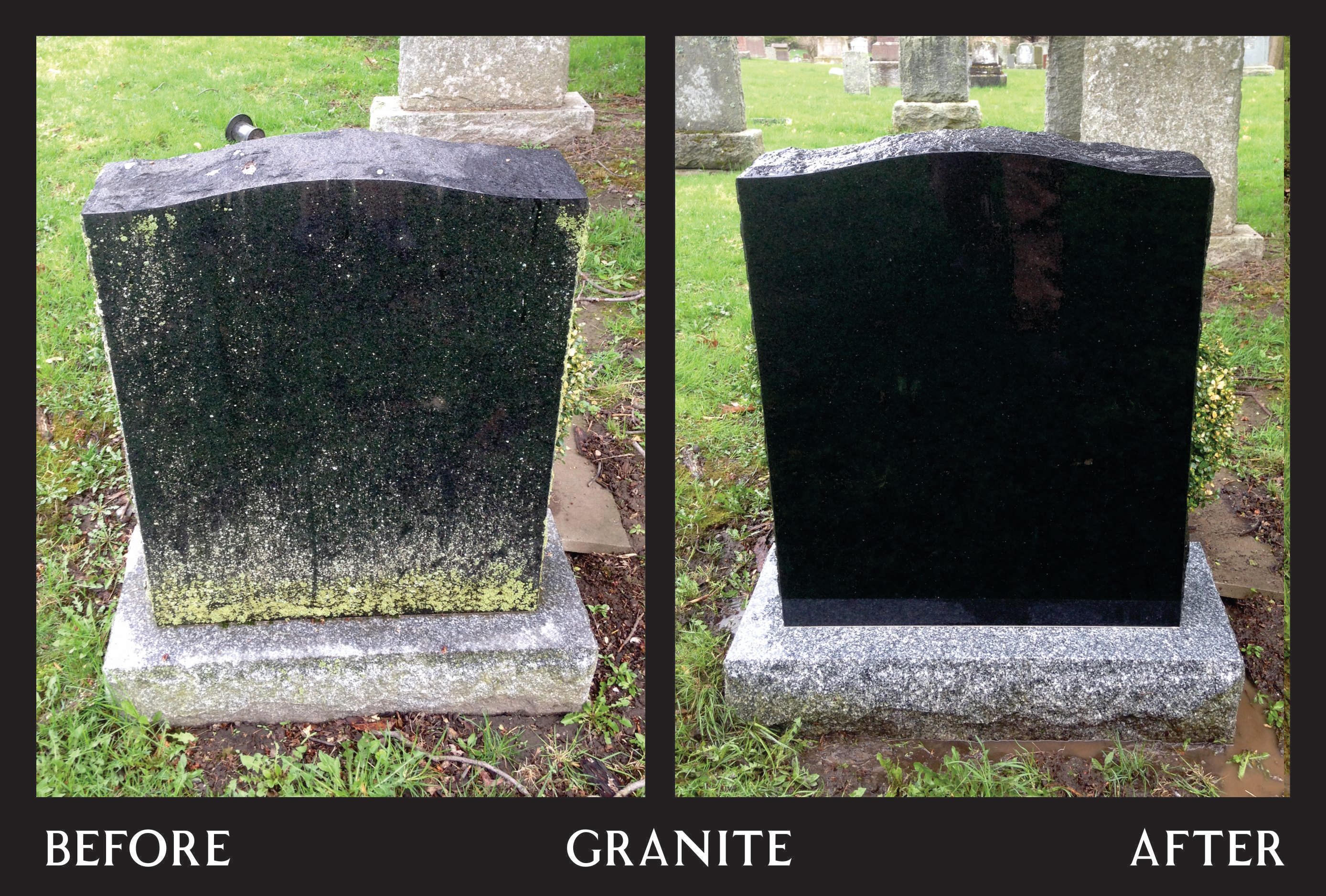 Power Washing - Black Granite