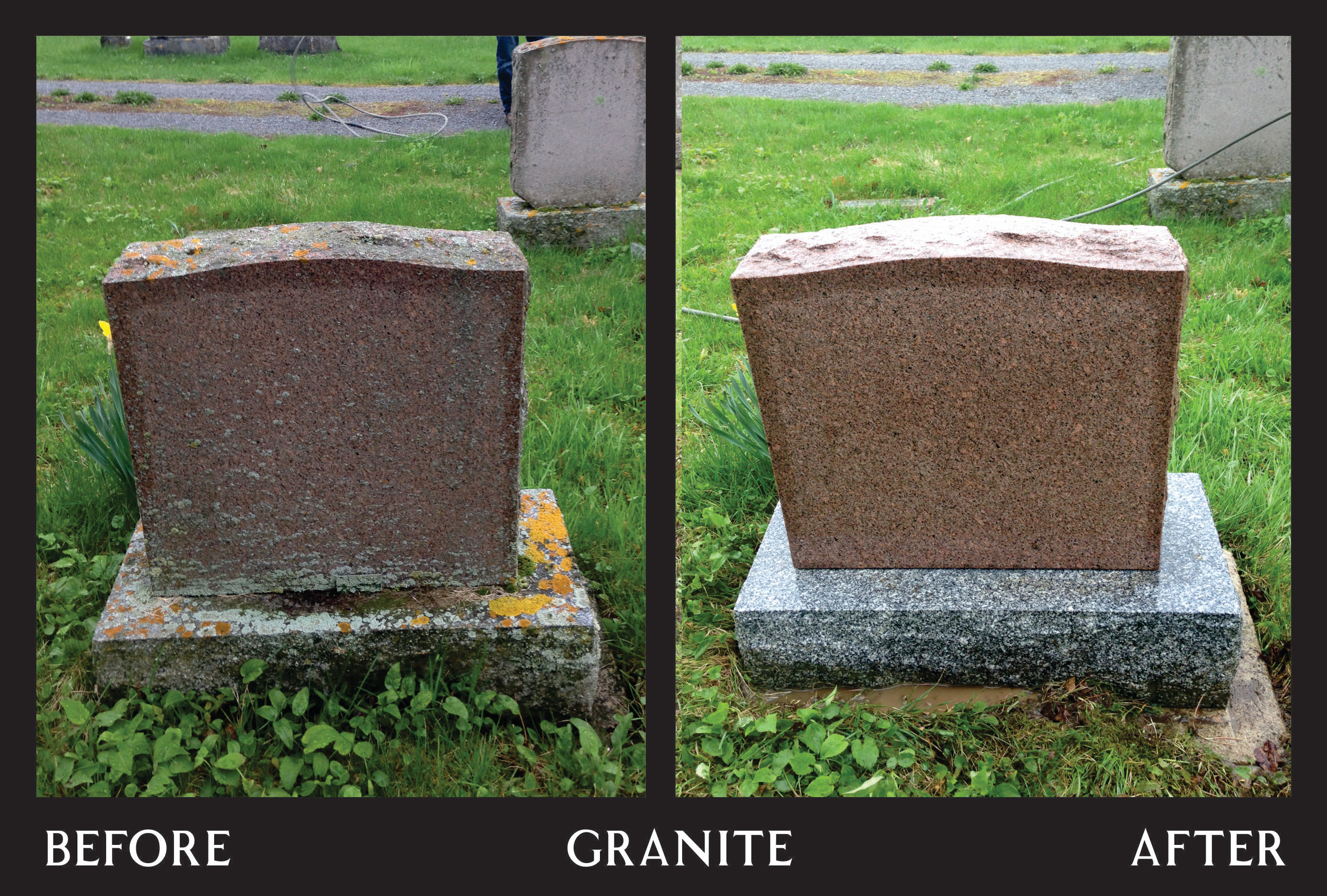 Power Washing - Red Granite