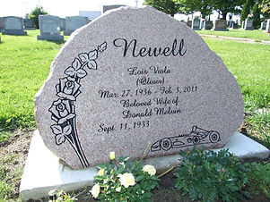 Newell in cemetery.jpg