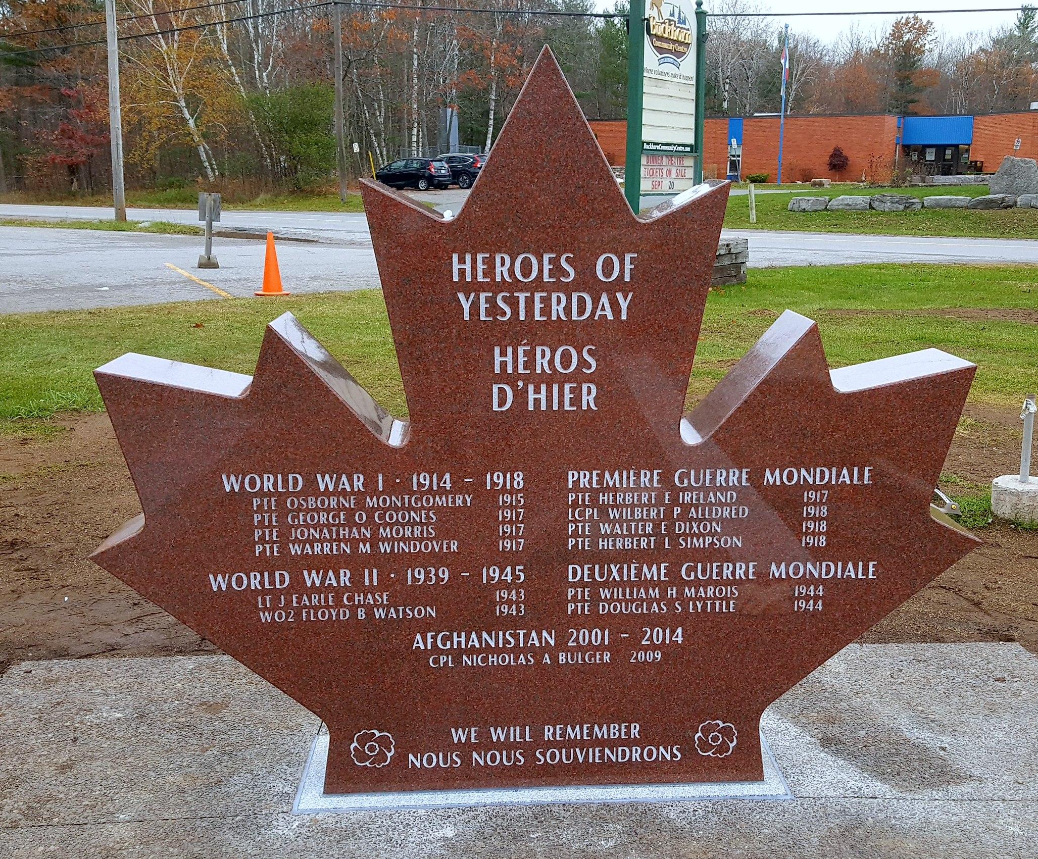 2017 - Buckhorn Cenotaph