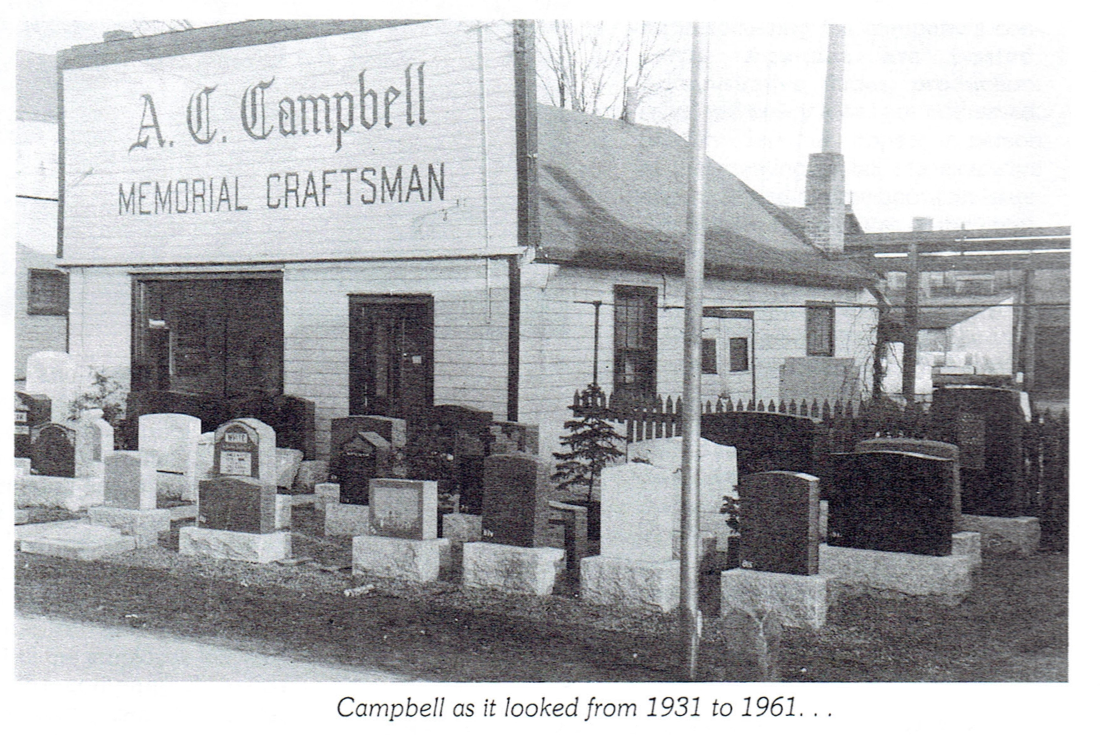 1931 - 1961: A. C. Campbell - Memorial Craftsman