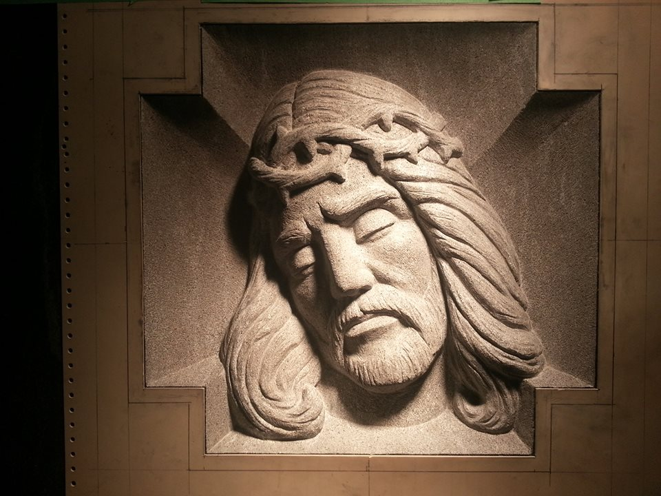Christ Face - Bas Relief - Gem Mist