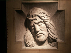 Christ Face - Bas Relief - Gem Mist