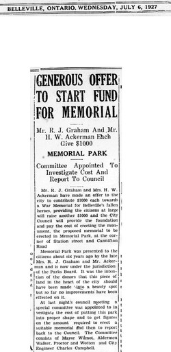 July 6, 1927 - Newspaper Clipping