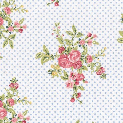 Tessuto cerato Flora White H.140
