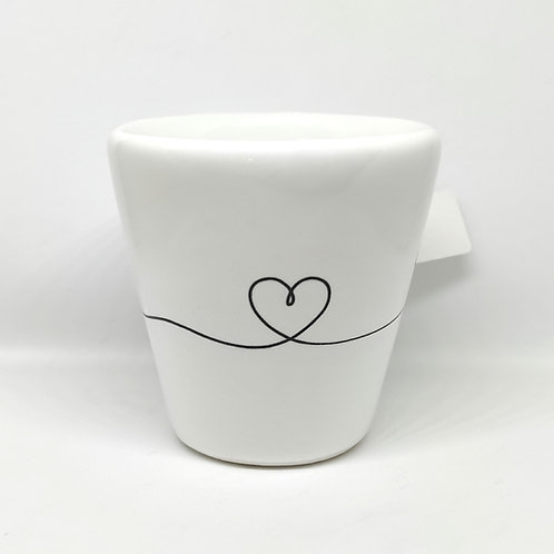 Tazzina caffè CUORE