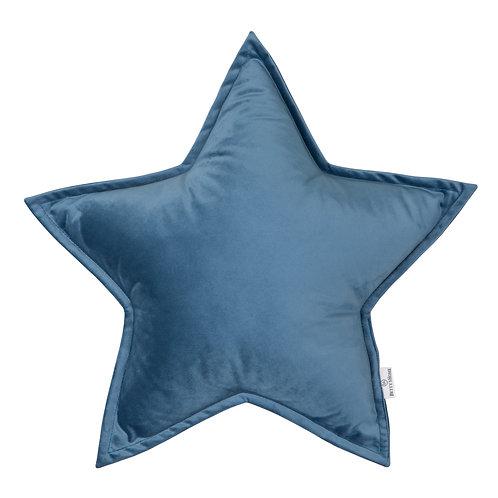 Cuscino Stella in Velluto Blue