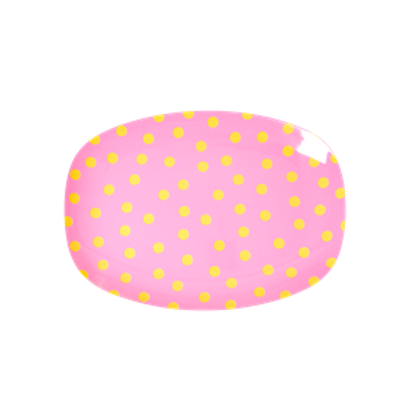Vassoio piccolo melamina POIS GIALLI