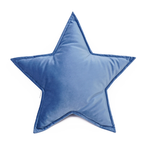 Cuscino Stella in Velluto Azzurro