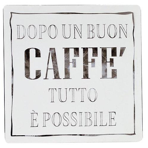 Targa DOPO UN BUON CAFFE'