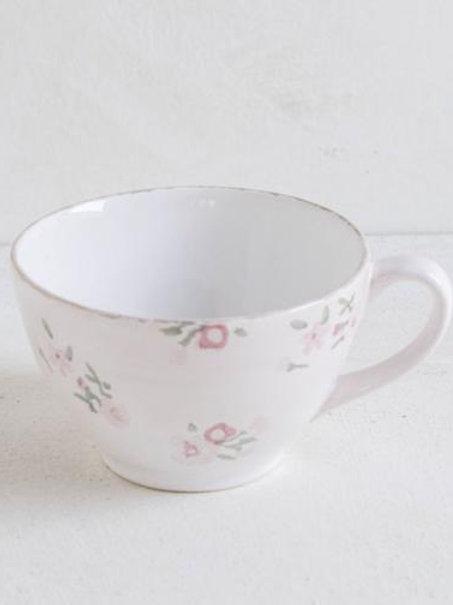 Tazza latte in ceramica fiorellini rosa