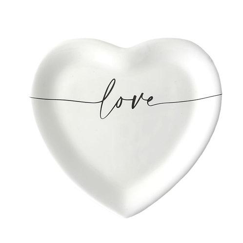 """Piatto cuore """"LOVE"""""""