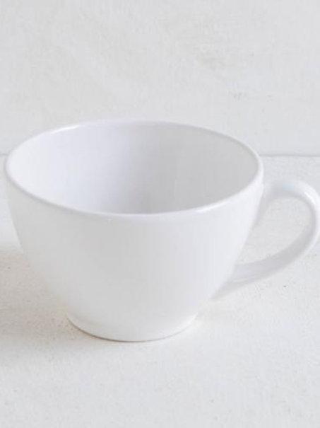Tazza latte in ceramica bianca