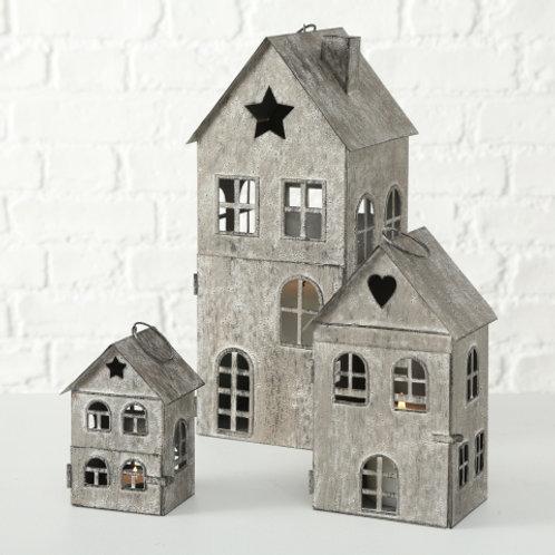 Casetta metallo Piccola con stella grigia
