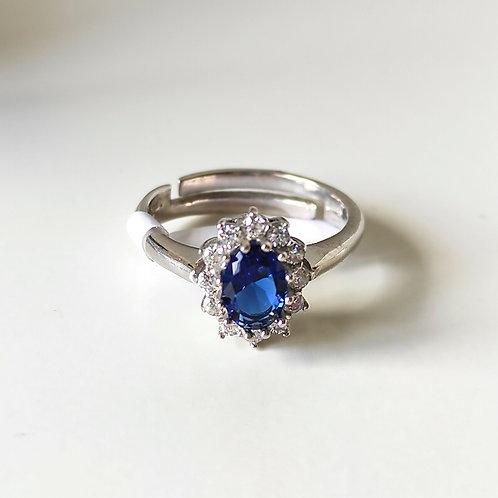 Anello pietra blu