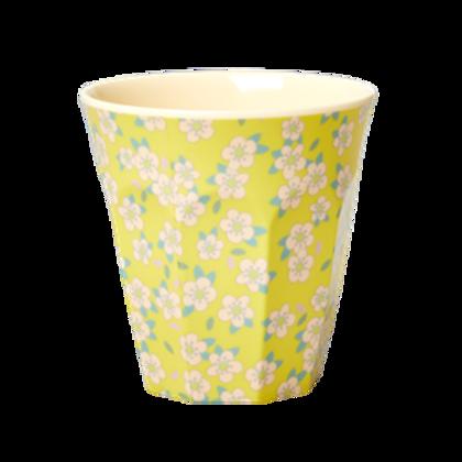 Bicchiere melamina Small Flower giallo
