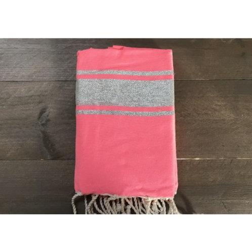 Telo mare Lurex rosa fluo