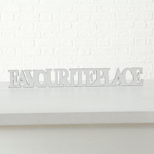 Scritta decorativa FAVOURITE PLACE