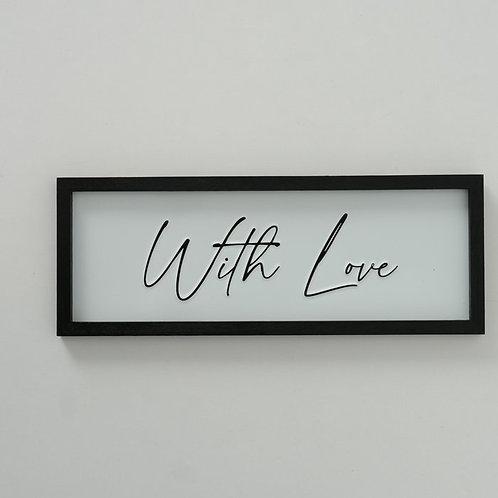 Quadretto WITH LOVE