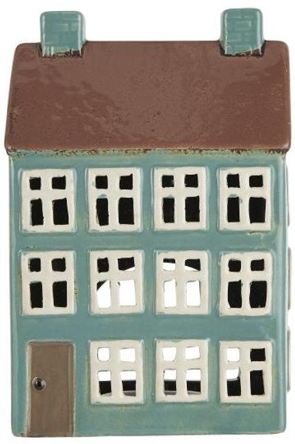 Casa porta candele Nyhavn tetto marrone 2 camini