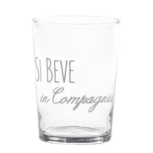 Bicchieri SI BEVE IN COMPAGNIA 6pz.
