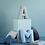 Thumbnail: Cuscino Lettera in Cotone Azzurro
