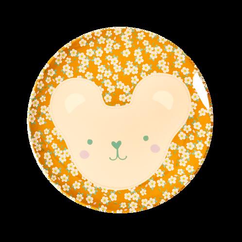 Piatto piano fiorellini senape