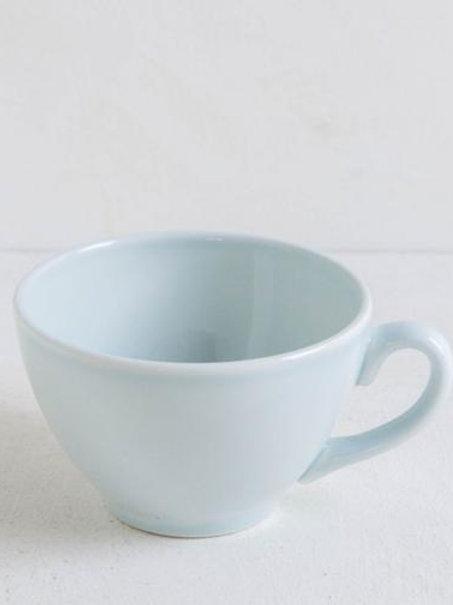 Tazza latte in ceramica acquamarina