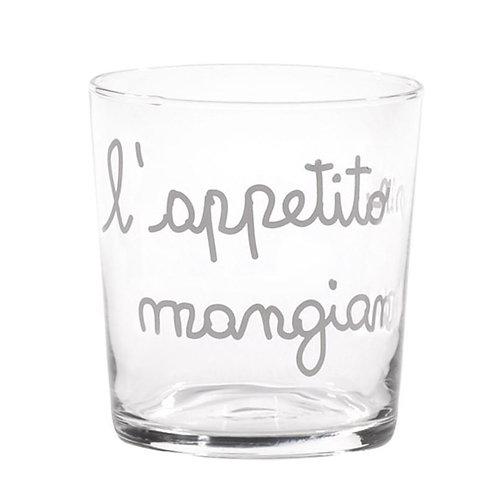Bicchieri L'APPETITO VIEN MANGIANDO 6 pz.