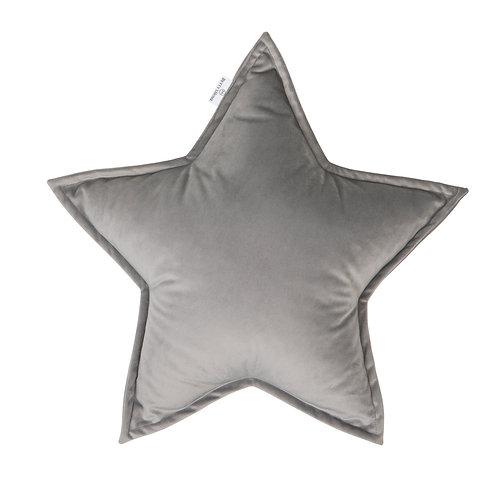 Cuscino Stella in Velluto Silver Grey
