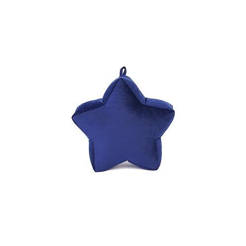 Cuscino Stella piccola in Velluto Blu Navy