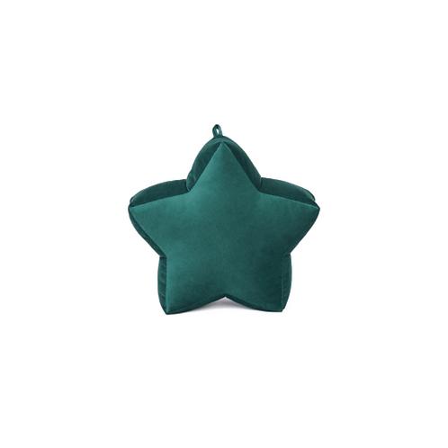 Cuscino Stella piccola in Velluto Verde