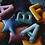 Thumbnail: Cuscino Stella in Velluto Azzurro