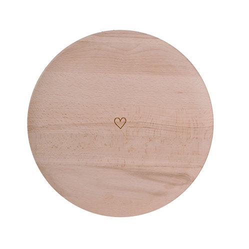 Vassoio legno cuoricino