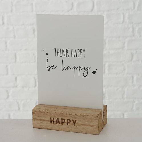 Quadretto da tavolo THINK HAPPY