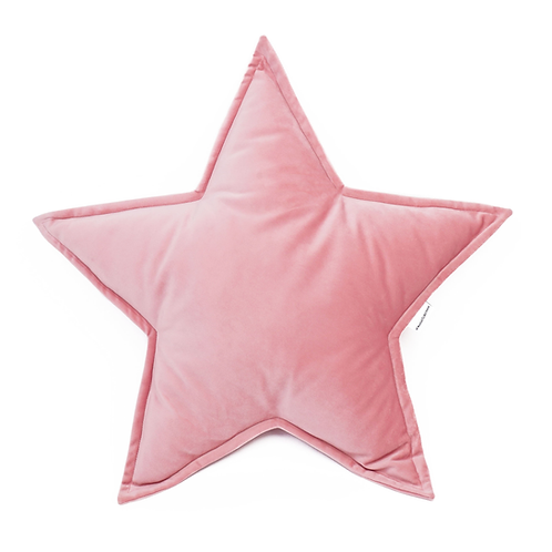 Cuscino Stella in Velluto Rosa