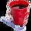 Thumbnail: Bicchiere melamina red
