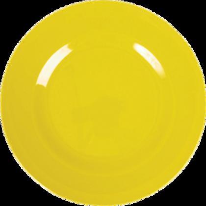 Piatto dessert giallo