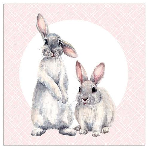 Tovagliolini carta Coniglietti rosa