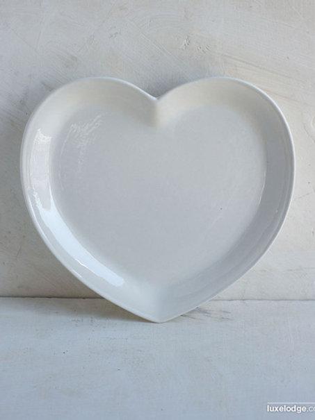 Piatto in ceramica cuore