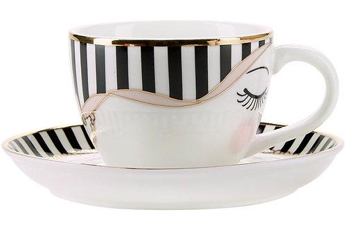 Tazzina Caffè c/piattino oro