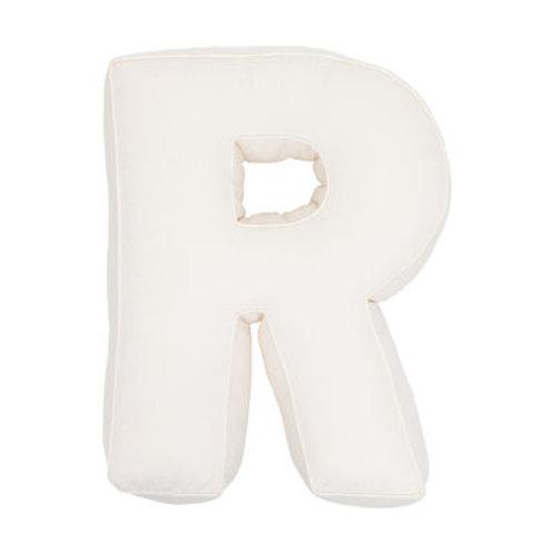 Cuscino Lettera in Cotone Vaniglia