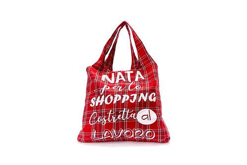 Shopper pieghevole NATA PER LO SHOPPING