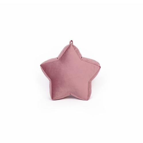 Cuscino Stella piccola in Velluto Rosa Antico