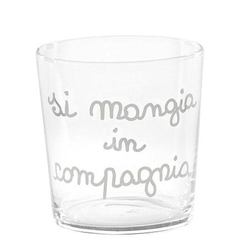 Bicchieri mix COMPAGNIA scritte ass. 6pz.