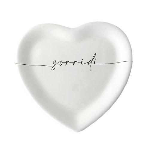 """Piatto cuore """"SORRIDI"""""""